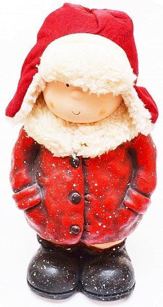 Dekofigur winterkinder winterdeko weihnachtsdeko figur junge weihnachten keramik - Weihnachtsdeko figuren ...