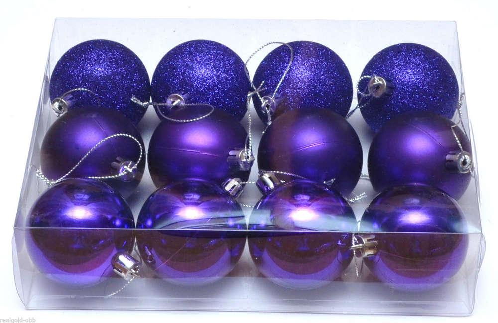 Christbaumkugeln Violett.Weihnachtskugeln Christbaumkugeln Baumkugeln Kunststoffkugeln Kugeln Baumschmuck Lila 6 Cm